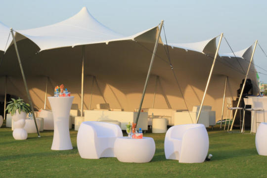 COCKTAIL FUCTION 10.5X15 STRETCH TENT WHITE DAY TIME