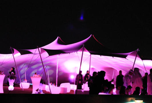 COCKTAIL FUNCTION 10.5X15 STRETCH TENT WHITE NIGHT TIME